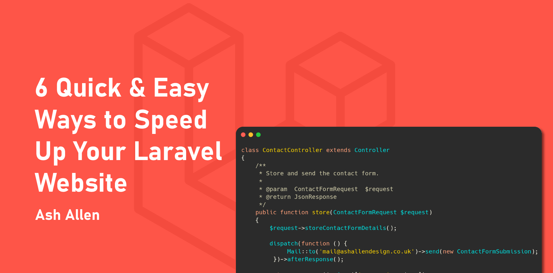 Learn 6 easy ways that you can improve your Laravel website's performance and speed. By using these tips, you'll be able to provide a better customer experience.