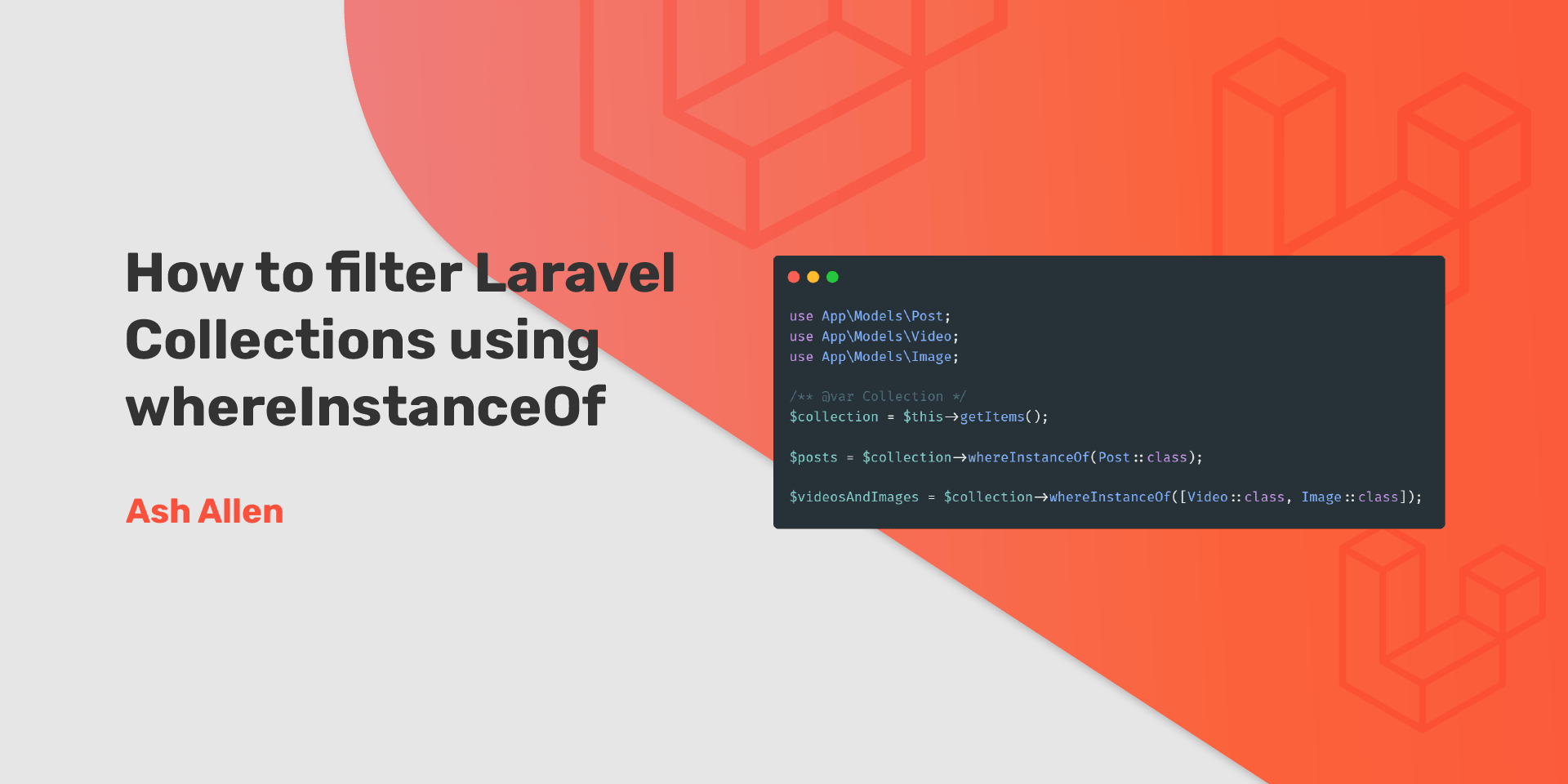 Learn how to use the whereInstanceOf method to filter Laravel Collections. Also check out how the latest changes added in Laravel 8.29 can be used for filtering based on multiple instances rather than just one.