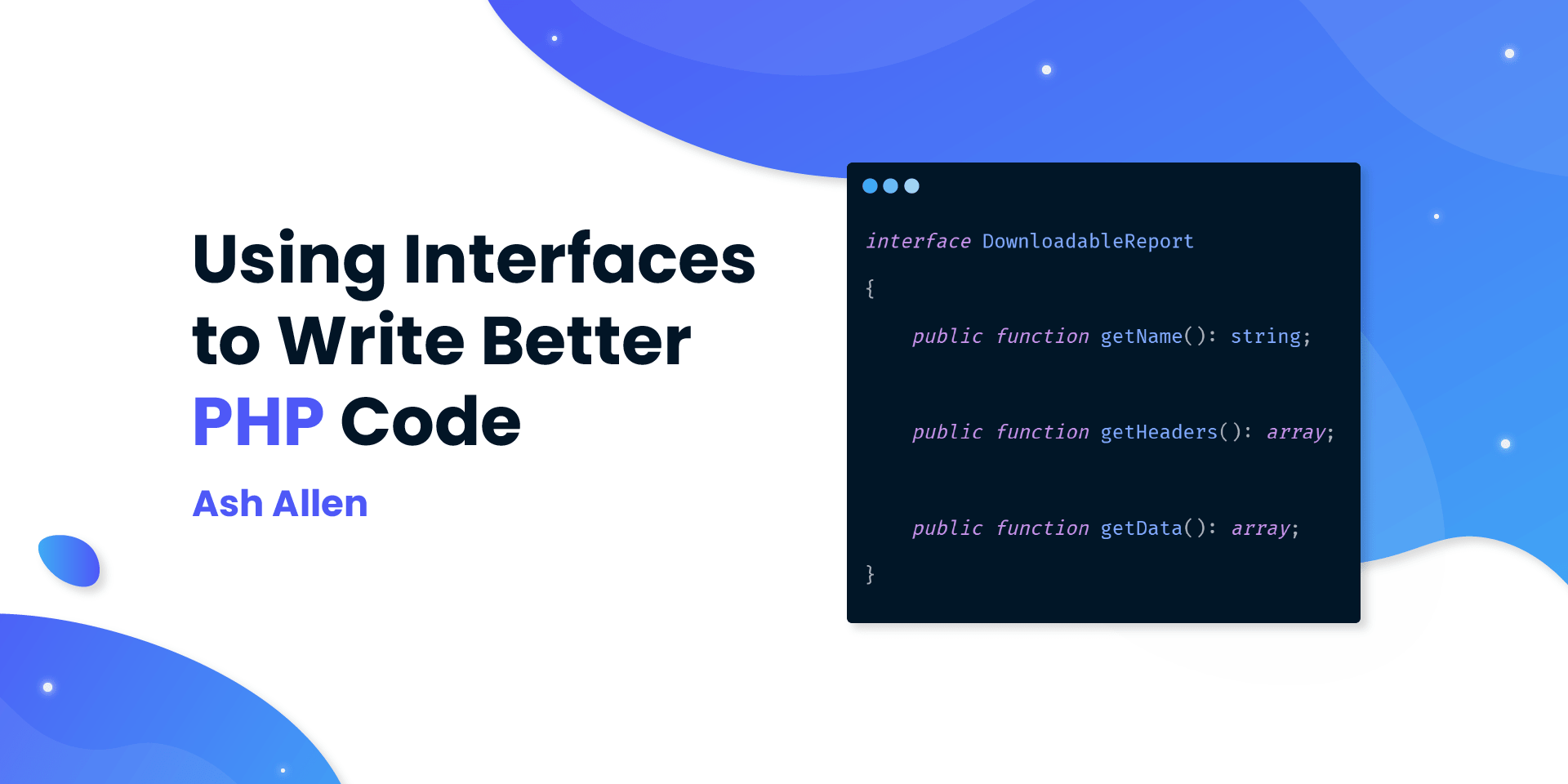 Learn how to use interfaces in your PHP code to improve extendability, readability, and testability. This article contains examples of how to use the interfaces in a real-world scenario.