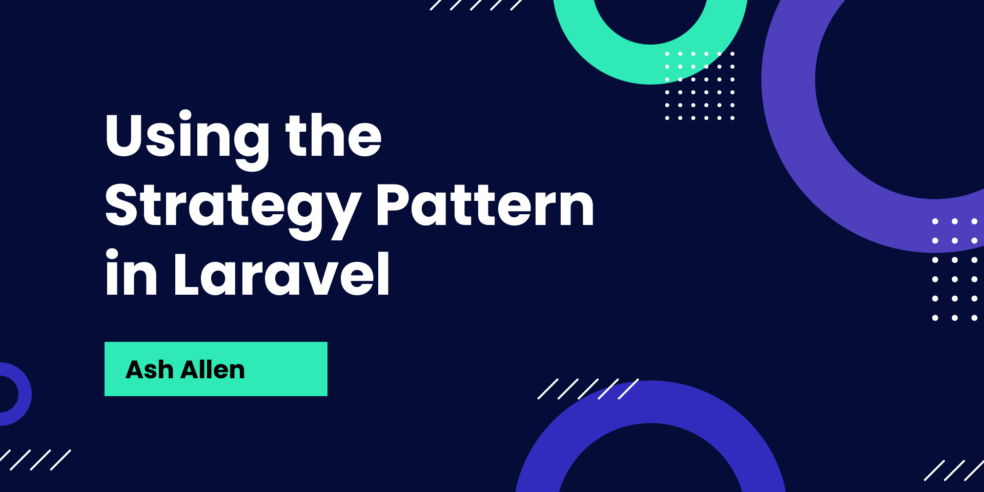 Learn about the strategy pattern and how we can use it in your Laravel codebase to improve the extendability and maintainability of your code.