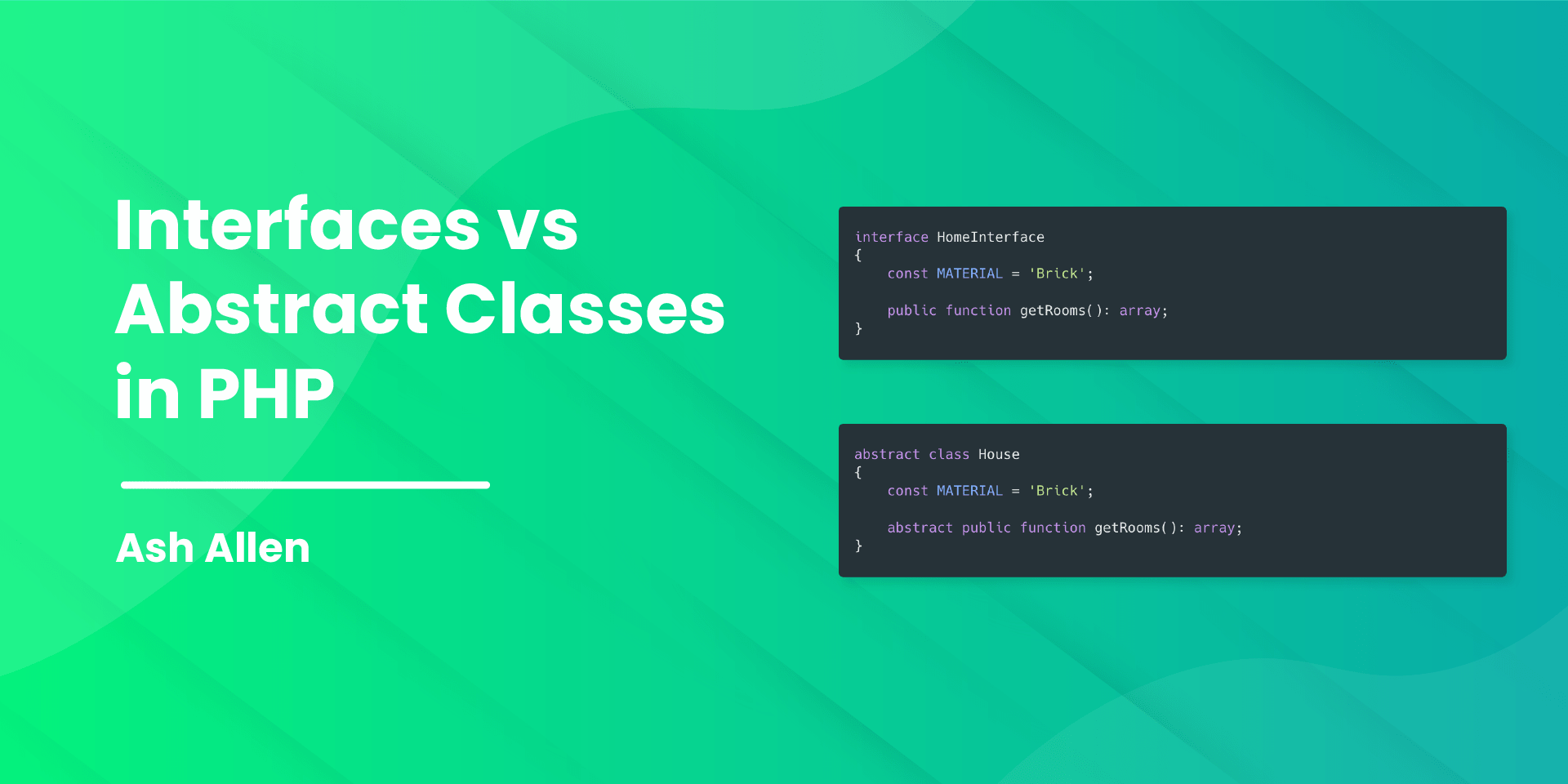 Learn about interfaces and abstract classes in PHP. This article covers different use cases and how to decide when to use an abstract class or interface.
