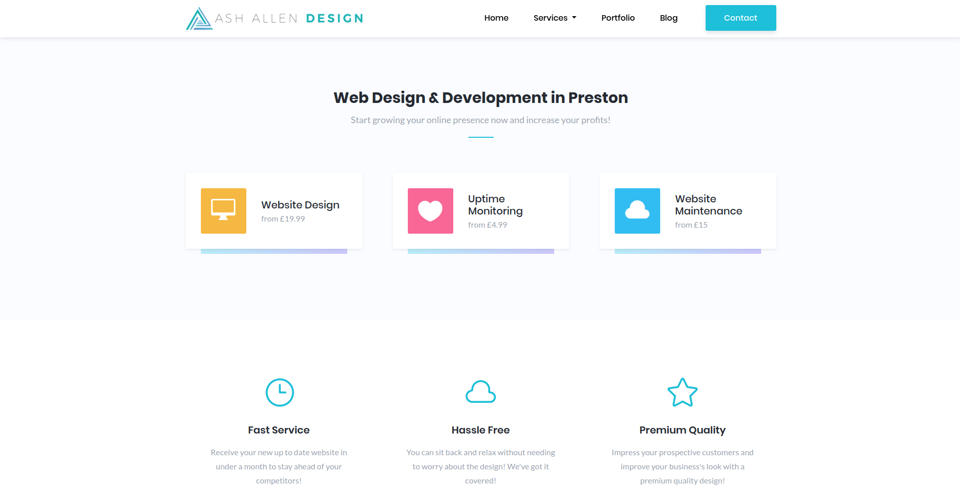 Ash Allen Design Website Design SEO CTA